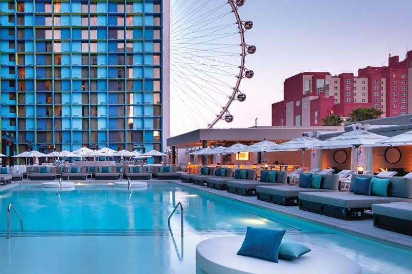 The Linq roof-top pool