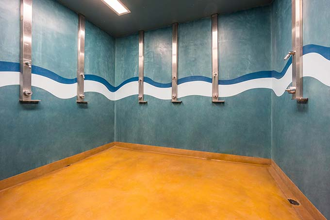 Pavilion Center Pool Shower