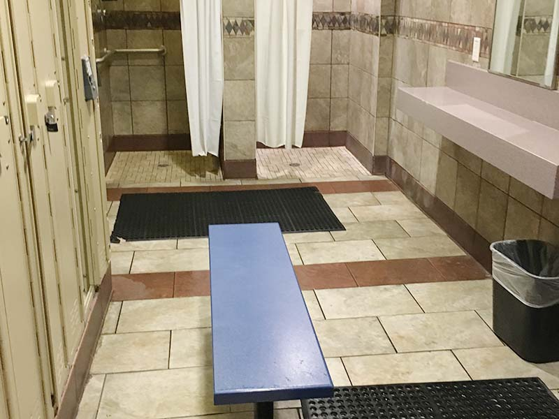 YMCA at Centennial Hills Community Center showers - before remodel