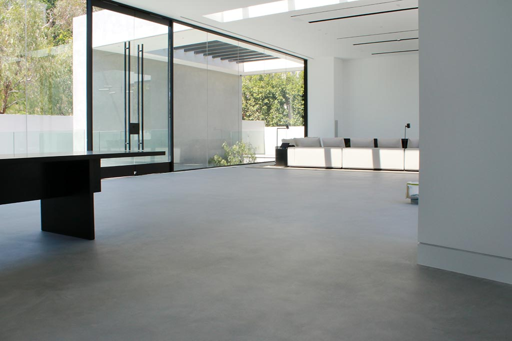 Fashion designer's residence renovation - SEMCO Seamless Stone floors and walls