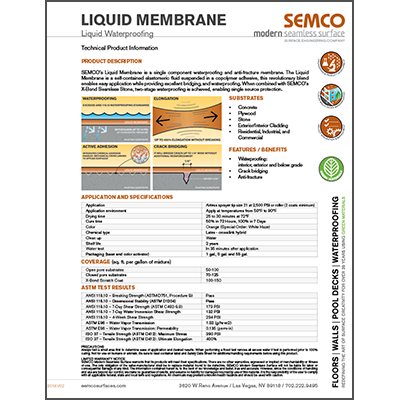 Product Data Sheet - Liquid Membrane