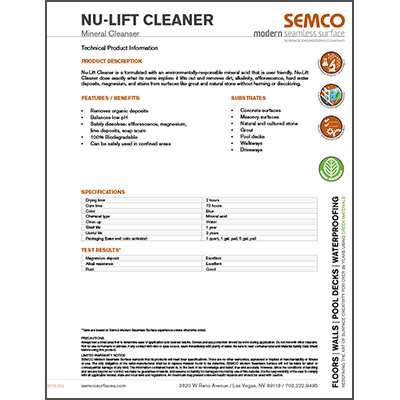 Nu-Lift Cleaner