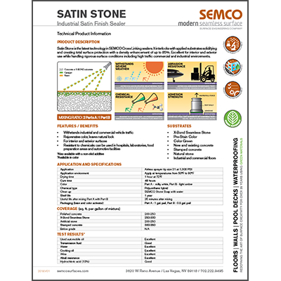 Product Data Sheet - Satin Stone