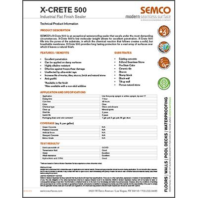 X-CRETE 500