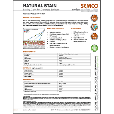 Product Data Sheet - Natural Stain