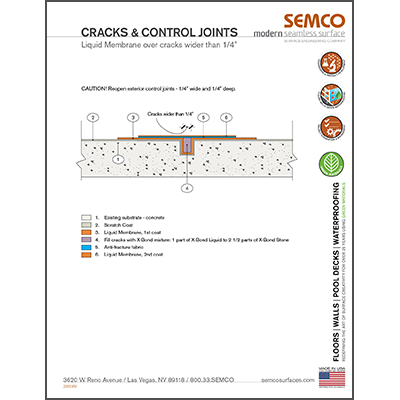 Crack and Control Joint Detail