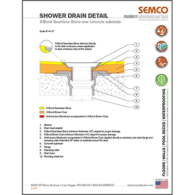 Shower Drain Detail