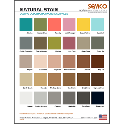 Natural Stain colors