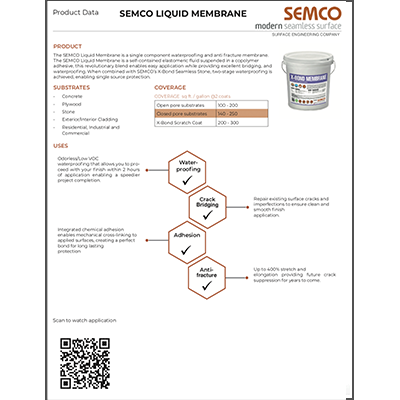 LIQUID MEMBRANE TECH SHEET
