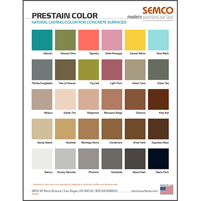PreStain Colors