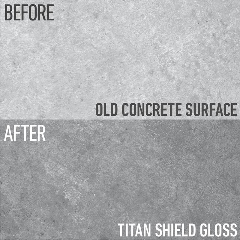 The Titan Shield Gloss - before and after